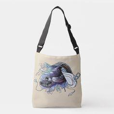 Watercolor fish. Exotical predator. Crossbody Bag Small Gift Bags, Small Gifts, Watercolor Fish, Lilac Grey, Card Patterns, Small Flowers, Predator, Gift Tags, Crossbody Bag
