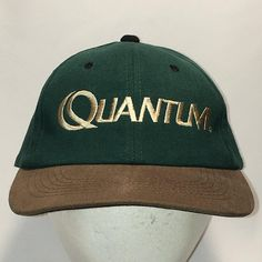 Vintage Quantum Fishing Hat Green Brown Dad Cap Outdoor Sports Caps Cool Hats For Men Gifts Mom Hats, Hats For Men, Cool Gifts For Women, Men Gifts, Hunting Hat, Cool Fathers Day Gifts, Sports Caps, Dad Caps, Vintage Fishing