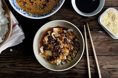 Rice Noodles with Chili Oil