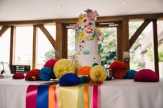 Katie and Chris enjoyed a colourful barn wedding at Bassmead Manor Barns. Read about their big day and why Bassmead was the perfect venue. Wedding Cakes, Wedding Venues, English Heritage, Barns, Ribbons, Big Day, Real Life, Wedding Flowers, Colours