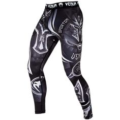 Venum Dragons Flight MMA Spats BJJ Grappling Compression Leggings Gym Pants