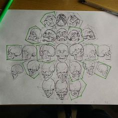 Facebook reminded me that it's been a year since I draw this. Green Skull drawn from imagination rest from amazing anatomy360 resources check out this page those guys make a great job. First day of promised land festival it will be fun!
