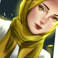 Girl Hair Drawing, Hijab Drawing, Sarra Art, Best Friend Drawings, Islamic Cartoon, Anime Muslim, Hijab Cartoon, Fashion Artwork, Collage Techniques