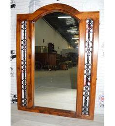 Indyjskie drewniane #lustro wyprodukowano w Indiach Model: GA-IND-55 tylko na 378 zł. Kupuj online @ http://goo.gl/GwcrNV