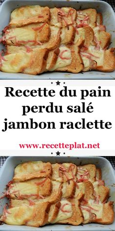 Recipe for salted french toast ham raclette Ham Recipes, Casserole Recipes, Mexican Food Recipes, Italian Recipes, Appetizer Recipes, Raclette Recipes, French Recipes, Chicken Recipes, Dinner Recipes