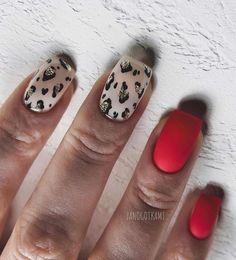 Stiletto Pointed Acrylic Nails Oval Short Artificial nail tips Plastic full false french nail art tips fake nails Trendy Nail Art, Stylish Nails, Cute Nails, Pretty Nails, Nail Art Vernis, Leopard Print Nails, Leopard Nail Art, Artificial Nails, Red Nails