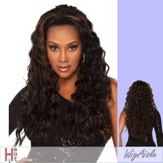 """AUGUSTA-V (Vivica A. Fox) - Futura Fiber Lace Front Wig in OFF BLACK by Vivica A. Fox. $56.26. Styling required to achieve the exact look shown. The color you receive may vary from the swatch shown due to your monitor and the distribution of the color fibers dictated by the style.. Color shown is FS1B/30. Lace Front Futura Fiber Wig. Long length. Wavy style. Average cap size. Color 1B is OFF BLACK. Color 1B is OFF BLACK (Color shown is FS1B/30) - NEW FUTURA, 25"""" ..."""