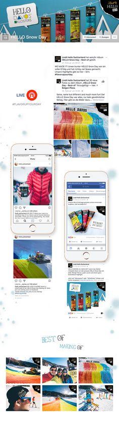 """Aktivierung und Bewerbung des großen """"Hello"""" Promotion Events im Skigebiet Davos mit Realtime Marketing Betreuung auf Facebook. Davos, Facebook Marketing, Events, Map, Maps"""