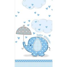 Umbrellaphants Blue Table Cover 54in x 84in