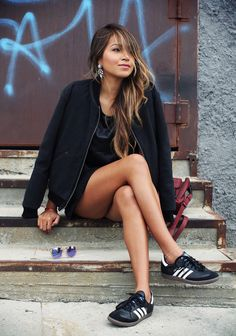 Sneakers can be sexy and chic- with just the right amount of edge.