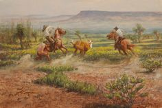 Plan A, by Mike Capron; Texas Cowboy Art