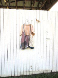 large  large upcycled patchwork Jacket / layered look / by CreoleSha on Etsy, $75.00