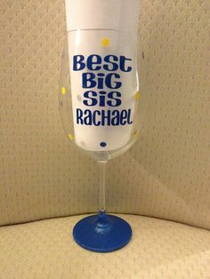 Big Little Sorority, Sorority Wine Glasses, Personalized Wine, Custom Wine, Big Wine Glass, Little Wine Glass - pinned by pin4etsy.com