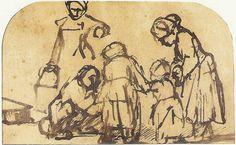 Línea Serpentinata: Dibujos de Rembrandt
