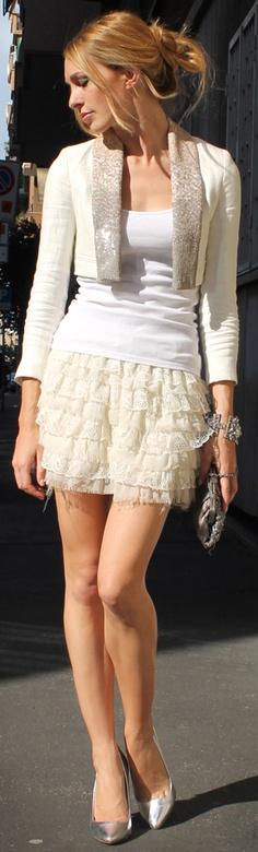 White and silver. elegant