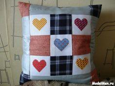 Наволочка для подушки в стиле пэтчворк