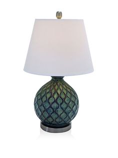 "UMA Set of 2 Polystone Table Lamps, Cool Multi, http://www.myhabit.com; 2 for $129!; height 26"", width 15"", depth 15"""