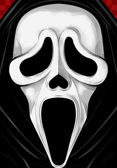 BROTHERTEDD.COM Horror Scream, Scream Movie, Arte Horror, Scream Art, Scary Movie Characters, Scary Movies, Horror Movies, Halloween Horror, Halloween Art