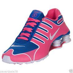 WOMEN'S SIZE 9.5 NIKE SHOX NZ NS RUNNING SNEAKERS BLUE PINK SHOES 580574 456 #Nike #RunningCrossTraining