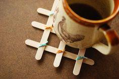 cách làm Lót cốc từ những que kem handmade