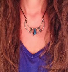 Dishfunctional Designs: New Bohemian Crescent Moon Necklaces