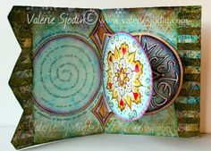 Beautiful Mandala prayer book... Valerie Sjodin used cds to trace the mandala shaped inner pages.