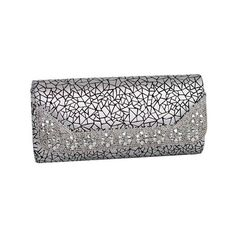 Women's J. Furmani 30823 Minerva Evening Bag ($50) ❤ liked on Polyvore featuring bags, handbags, clutches, purses, silver, evening purses, evening bags clutches, evening clutches, evening handbags and evening purses clutches