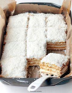 Raffaello cake – About Dessert World Polish Desserts, Polish Recipes, Cookie Desserts, Sweet Recipes, Cake Recipes, Dessert Recipes, Sweets Cake, Cupcake Cakes, Delicious Desserts