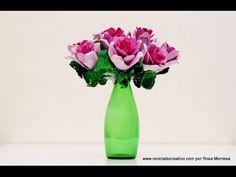 Cómo hacer un ramo de flores con una huevera de cartón - How to make a b...