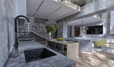 Charming House Design with Luxurious Gray Features and Unique Decor Ideas Modern Kitchen Cabinets, Kitchen Interior, Kitchen Island, Townhouse Designs, Charming House, Woman Bedroom, Best Kitchen Designs, Grey Kitchens, Cuisines Design