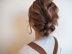 Media Hair Arrange, Bun Hairstyles, Updos, Hair Makeup, Hair Color, Hair Beauty, Make Up, Hair Styles, Beautiful