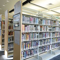 ESTEY® Steel Cantilever Library Shelving - Double-Face