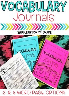 When it comes to teaching vocabulary, these journals are a must have. They can be used during whole group instruction while introducing new vocabulary words or students can complete independently during small groups. Two different word options are available.