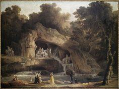 Hubert Robert | Les bains d'Apollon à Versailles 1803