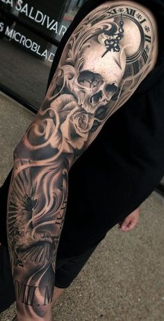 Tatuagens no braço masculinas Arm tattoos for men Forarm Tattoos, Finger Tattoos, Body Art Tattoos, Hand Tattoos, Chicano Tattoos, Skull Sleeve Tattoos, Best Sleeve Tattoos, Tattoo Sleeve Designs, Badass Tattoos