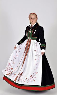 Bunad from Åmli, Aust-Agder, Norway Traditional Fashion, Traditional Dresses, Norwegian Clothing, Norwegian Fashion, Folklore, Norway Culture, Authentic Costumes, Costumes Around The World, Scandinavian Fashion
