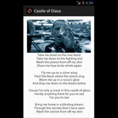 Castle of glass oh so fragile but yet so strong
