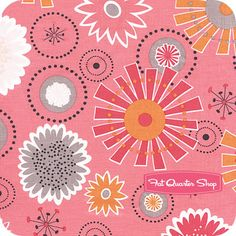 Gracie Girl Pink Large Flowers Yardage SKU# C3530-PINK Lori Holt, Bee in My Bonnet, what a fun print
