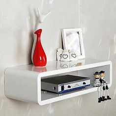 1 X Wall Shelf Sky Box(optional). Makes Great Decoration To The Wall And Room. Wall Mount Tv Shelf, Hanging Tv On Wall, Wall Mounted Shelves, Floating Media Shelf, Floating Wall, Box Bedroom, Shelves In Bedroom, Girls Bedroom, Bedroom Ideas