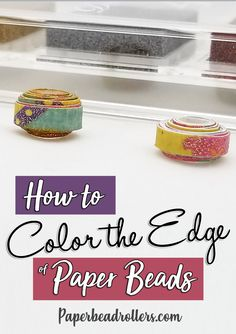Don't you hate it when you find the perfect paper for your paper beads and then realize the edges are white? Paper Beads Tutorial, Paper Beads Template, Make Paper Beads, Paper Bead Jewelry, How To Make Paper, How To Make Beads, Diy Jewelry, Jewelry Making, Jewellery