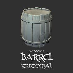 Wooden BARREL Tutorial, CARLOS MONTERO on ArtStation at https://www.artstation.com/artwork/DEkJE