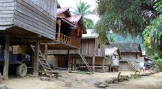 Laos - Mekong River Hill Tribe Village