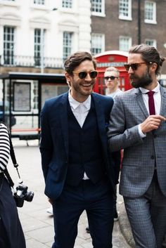 modern // menswear, mens style, fashion, style, suit, navy, blue, sunglasses, haircut, hair style cut, street style, winter, holiday, #sponsored