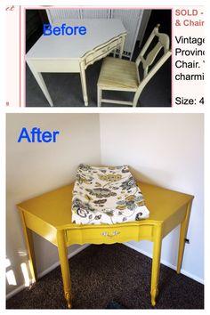 Corner desk repurposed into baby changing table for nursery Diy Home Decor Bedroom, Teen Room Decor, Baby Nursery Decor, Nursery Ideas, Corner Changing Tables, Baby Changing Tables, Corner Table, Ikea Toy Storage, Diy Storage Bench