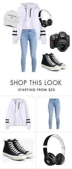 """""""My photographer stlye"""" by anitaviolakovacs on Polyvore featuring Levi's, Converse, Beats by Dr. Dre and Nikon"""