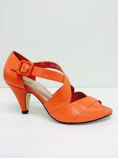 Bellini Trick - M B - Bellini Trick special occasion shoe with peep toe, cross over strap detail with closed heel on a 7cm heel height.  Available in Black, Nude Nappa and Orange.  price 189 NZ$ Special Occasion Shoes, Bellini, Summer Shoes, Kitten Heels, Peep Toe, Spring Summer, Nude, Orange, Detail