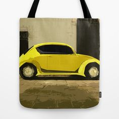 The LOve Bug reVAMP Tote Bag by Bruce Stanfield - $22.00 The Love Bug VW revisited and revamped. Key words, VW, Volkswagen, love bug, bug, retro, 60's, 70's, hippie, car, transport, vehicle, economy,
