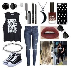 """Theme park with Louis"" by sarahorantomlinson ❤ liked on Polyvore featuring H&M, Bobbi Brown Cosmetics, Carolina Glamour Collection, Boohoo, CellPowerCases and Ray-Ban"