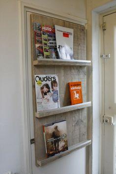 tijdschriftenrek steigerhout