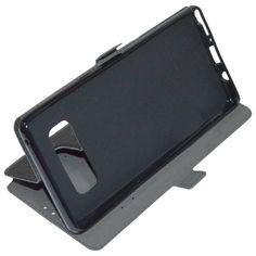 MAXY CUSTODIA S-POCKET BOOK ORIZZONTALE SILICONE FLIP CASE PER SAMSUNG GALAXY NOTE 8 N950 BLACK